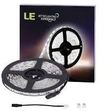 Led Lights Flexible Strip by Amazon Com Le 16 4ft 300 Smd 5050 Leds Flexible Strip Lights