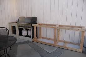 diy bbq outdoor island around existing propane grill cart photos