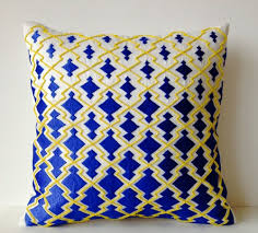 light blue accent pillows blue and yellow throw pillows wehanghere