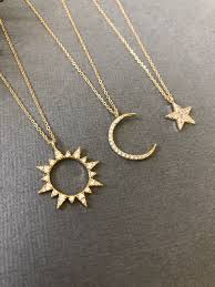 love star necklace images Sun moon and star necklace sun necklace moon necklaceday jpg
