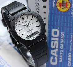Jam Tangan Casio Karet jam tangan casio original aw 49wh hitam tali karet