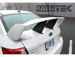 subaru spoiler perrin wing stiffi black sti 2011 2014 sedan rallitek com