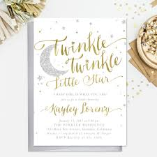 twinkle twinkle baby shower invitations twinkle twinkle boy or girl baby shower invitation
