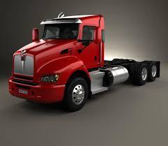 kenworth 2010 models kenworth t440 chassis truck 3 axle 2009 3d model hum3d