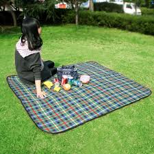 Outdoor Picnic Rug 150 135cm Portable Folding Waterproof Picnic Mat Cing Pad