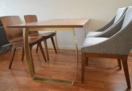 wood table with metal legs wood dining table with bronze legs intended for wood dining table