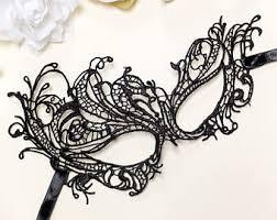 lace mask black lace mask w no ties mask boudoir mask
