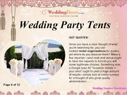wedding party quotes wedding party tents