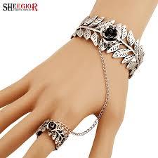 bracelet ring online images Ring bracelet connected chain alert bracelet jpg