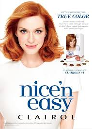 clairol nice n easy natural light auburn christina hendricks for clairol nice n easy celebrity beauty