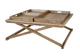 serving tray side table soleil weathered oak coffee table with serving trays