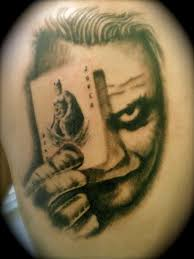 huge joker face tattoo on back real photo pictures images and