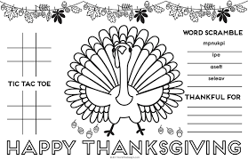 thanksgiving placemat for free printable diy activity placemat