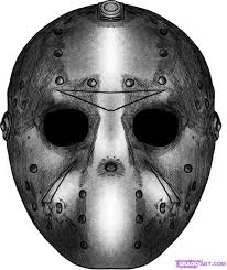 Jason Halloween Mask by How To Draw Jasons Mask Step By Step Movies Pop Culture Free