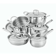 une batterie de cuisine 11 stainless steel cookware set paderno