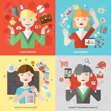 berufe mit design flache design geschäftsleuten arbeitsplätze und marketing
