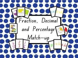fraction decimal and percentage flash cards 376 cards tpt