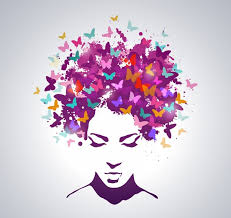 abstract butterfly hair vector topvectors