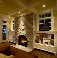 Fireplace With Music by Built Ins