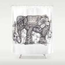 awesome elephant shower curtains elephant shower curtains
