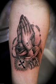 praying with rosary designs praying tattoos