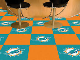 nfl miami dolphins carpet tile carpet tiles 18x18 inches