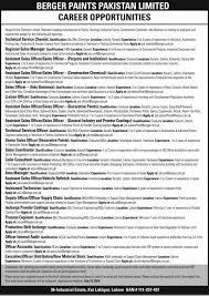 berger paints jobs 2014 july pakistan latest advertisement in