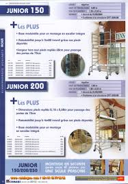 Petit Echafaudage Roulant by Junior 150 Accueil Petit Echafaudage Acier Comabi Echafaudages
