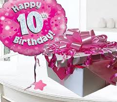 balloons in a box delivery happy 10th birthday balloon in a box code jgf10h10bbb 10 year