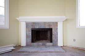 Paint Tile Fireplace by Fireplace Refaced