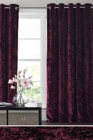 Plum Velvet Curtains Plum Crushed Velvet Eyelet Curtains Curtains Pinterest