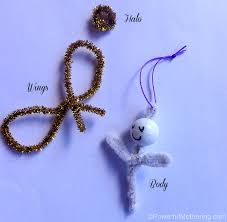 kid made feather pipe cleaner easy ornaments