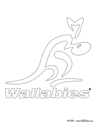 australia wallabies rugby team coloring pages hellokids com
