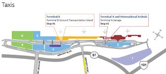 san jose airport gate map taxis sjc