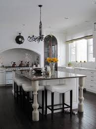 farmhouse bar stools kitchen traditional with iron chandelier