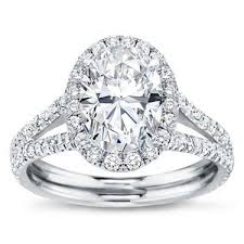 oval engagement ring with halo split shank halo setting for oval r2989