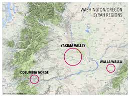 Map Of Southern Oregon by Treasure Map Of West Coast Syrah Wine Folly