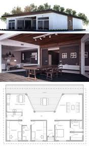 Floor Plans For Small Homes Small House Plan With Double Garage Three Bedrooms Floor Plan