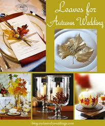 let nature decorate your fall wedding exclusively