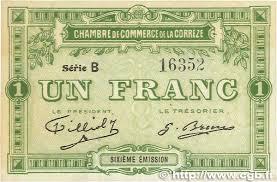 chambre de commerce var 1 franc regionalism and miscellaneous 1915 jp 051 16var
