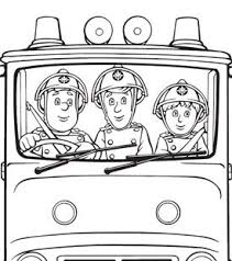 fire engine colouring cartoonito uk