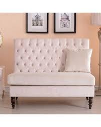 bedroom loveseat amazing deal belleze beige modern loveseat bench sofa tufted settee