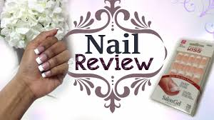 kiss salon gel french nails review youtube