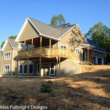 house plans with walkout basement at back craftsman style lake house plan with walkout basement plans rear