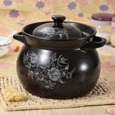 faitout et cuisine 3 4l noir émaillé céramique soupe pots faitout ragoût cocotte en