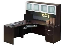 Wood Corner Desk With Hutch Office Furniture Corner Desk Bethebridge Co
