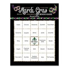 mardi gras bingo mardi gras personalized masquerade party bar bingo cards 16