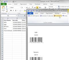 mail merge from excel create upc ean barcode labels with mail merge