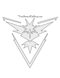 pokemon go team instinct emblem free stencil gallery