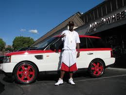 white range rover rims stephen jackson u0027s red range rover celebrity carz